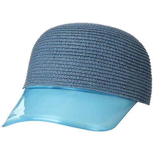 Lipodo Gorra de Mujer Transparent Visor - Verano Sol Cerrado por atrás, con Visera Primavera/Verano - L (58-59 cm) Celeste