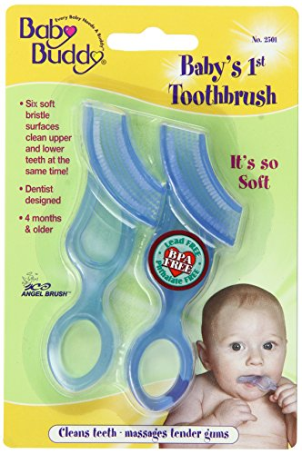 Baby Buddy Baby's 1st Toothbrush 2ct (Blue)