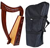 DEURA 24' HARP CELTIC 12 STRINGS BABY LAP HARP with BAG DH-12C