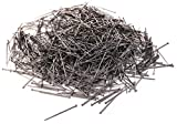 Sewing Straight Pins 1000 Pack - 1 Inch Long Flat Head Stick Pins Dressmaker Stainless Steel Silver Craft Dress Tailor Fabric Push Needle Seamstress Metal Pin Set