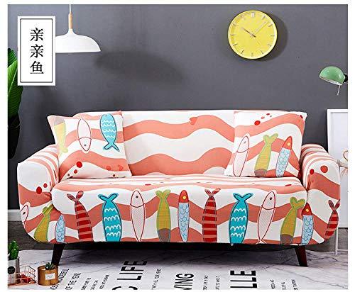 Allenger Forro de Sofá Doméstico,Funda de sofá elástica con Estampado de Flores, Funda de sofá Antideslizante Universal para Todas Las Estaciones, Lavable veinticuatro_235-300cm