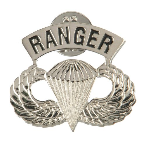 US Army Ranger Cloisonne Military Pins - Silver