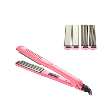 3 in 1 Hair Straighteners Dual Voltage,with Digital LCD Display, 30's heat up to 230℉, Straightening Crimper Hair Roller Corn Plate Hair Styling Fast Heating