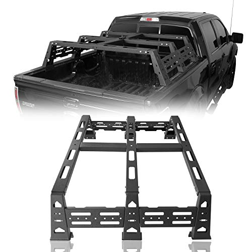 Hooke Road F150 Overland Bed Rack Compatible with Ford F-150 & Raptor 2009-2021 Pickup Truck