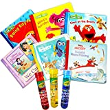 Baby Ultimate Bubble Bath Book Set Bundle for Toddler Kids -- 6 Books with 3 Crayola Bubble Bath (Sesame Street and Disney Bath Time Storybooks)
