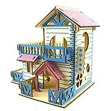 Blue-Yan Maison de gerbilles cachettes pour Hamster Maison en Bois pour Hamsters Petit Animal cachette Hamster Maison Deluxe Deux Couches cabane en Bois Jouer Jouets à mâcher