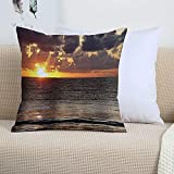 Funda Cojin 45 x 45 - Fundas Cojines Decorativas de Poliéster Muy Suave,Sunset Beach, cielo nublado colorido Cancún Oce,Funda de Almohada Cuadrada para Sofá, Dormitorio y Sala de Estar, con Cremallera