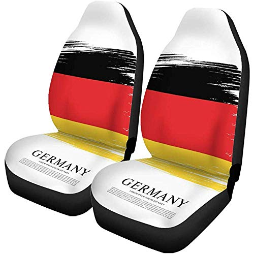 Beth-D autostoelhoezen grijze vlag van Duitsland, Duitsland, penseelstreep rood, set van 2 autoaccessoires, beschermers, car decor fit voor auto-vrachtwagen-Suv