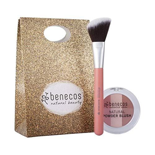 Benecos - Set di trucco naturale vegano bio + pennello fard in formato kit regalo - cosmetico tedesco