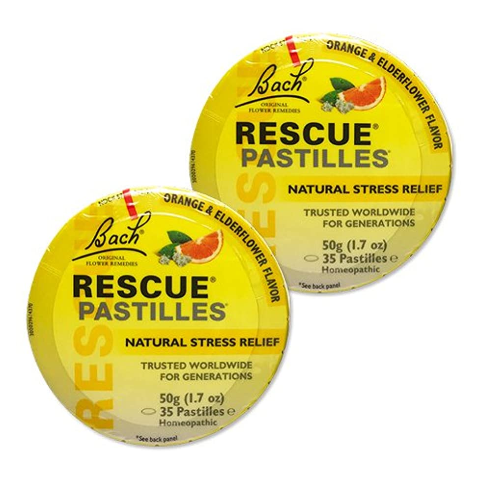 浸漬計算するスラム【2個セット】 [海外直送品]バッチフラワー レスキューレメディー パステル(オレンジ) Rescue Pastilles: For Occasional...