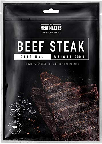 The Meat Makers | BIG PACK Original Dried Beef Jerky Steak (200g) – Carne Secca di Manzo