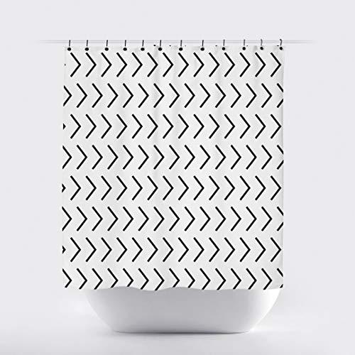 FloradeSweet schwarz weißer Pfeil duschvorhang modern niedlich skandinavisch duschvorhänge minimalistisch Badezimmer dekor grau modern showerte duschvorhänge