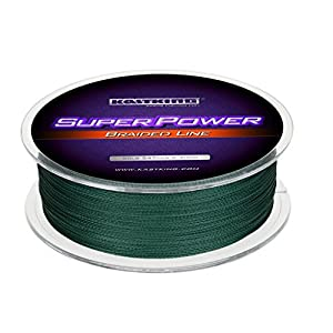 KastKing Superpower Braided Fishing Line,Moss Green,50 LB,1097 Yds