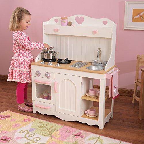 KidKraft 53151 Prairie Prärie-Spielküche aus Holz in Weiß Landhaus Kinderküche - 4