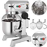Happybuy Commercial Food Mixer 15QT 600W Dough Mixer Maker 3 Speeds Adjustable Commercial Mixer Grinder 110 178 and 390 RPM Stand Mixer