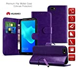 Huawei Ascend Y530 Case Premium Leather Wallet Case with