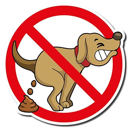 PICO signs Hochwertiges Schild aus Alu Hier kein Hundeklo 210 x 210 mm Freiform | Hundekot, Hundehaufen |