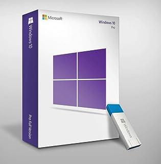 صندوق بيع بالتجزئة مايكروسوفت ويندوز 10 برو، USB + بطاقة مفتاح التنشيط
