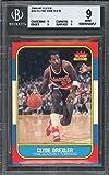 1986-87 fleer #26 CLYDE DREXLER portland blazers rookie card BGS 9 (9 9 9 9) Graded Card