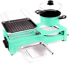 Verwijderbare Grill Met Hete Pan, Elektrische Hete Pan Met Antiaanbaklaag En Barbecue, Aparte Dubbele Temperatuurregeling ...