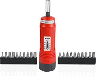 GFIRE Torque Screwdriver 1/4-Inch Drive 20 Bits Included 10 to 50 Inch-Pound Range Short Shank for Handgun Pistol Gunsmithing and Maintenance with Storage Case