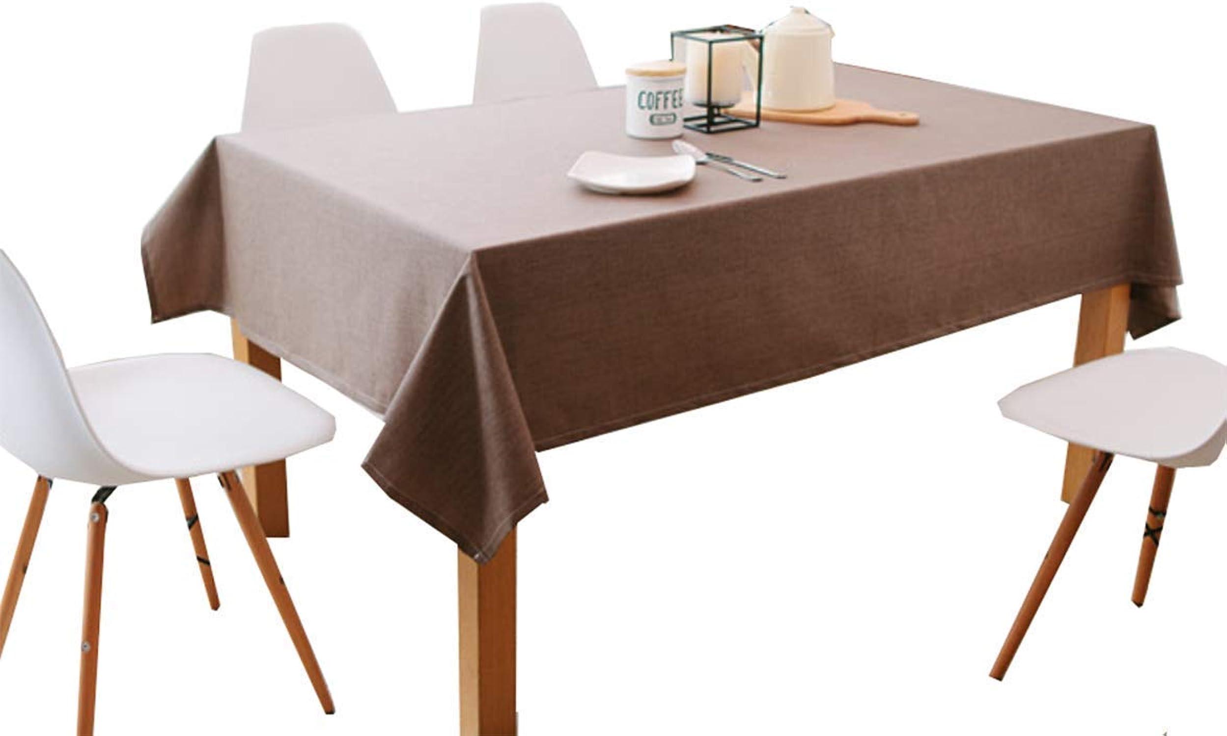 Wghz Nappe de Table en Lin Coton Couleur Unie Design Style Unique, Nappe pour Pique-Nique résistant à la Chaleur et à l'humidité, Bcourir_120x180cm