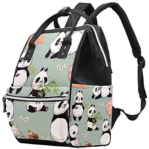 Bennigiry Little Panda Collection Sac à langer Grande capacité Sac à dos de voyage Sac à langer Organisateur multifonction Sac de bébé pour maman