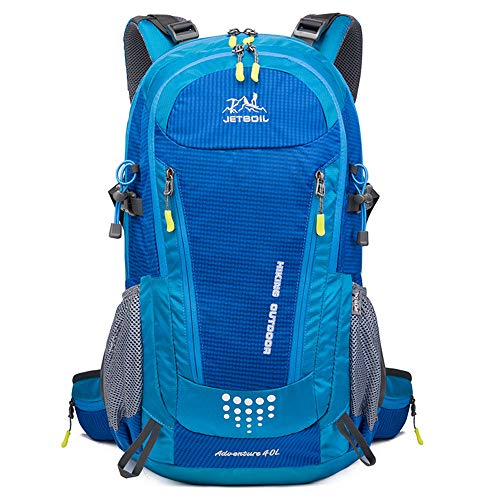 40L Ultra Lightweight Hiking Backpack, Chickwin Foldable Multi-functional Casual Rucksack Travel Daypack Bag for Men Women Outdoor Sport Camping Mountaineering Walking Climbing (Blue,55 * 20 * 30cm)