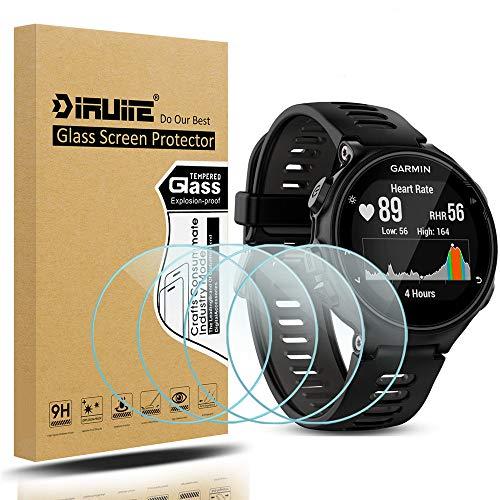Diruite 4-Pack for Garmin Forerunner 735XT Screen Protector Tempered Glass for Forerunner 735XT [2.5D 9H Hardness] [Anti-Scratch]