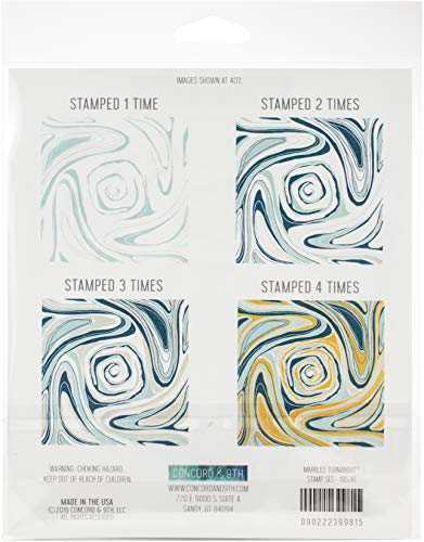 Concord & 9th Clear Stamps 6'X6'-Marbled Turnabout