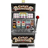 reczone crazy diamonds slot machine bank - authentic replication by trademark global - toys