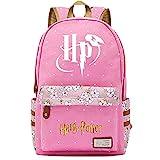 NYLY Mochila Escolar de Flores para niñas Mochilas Informales de Moda/de Compras/de Viaje, Mochila de la Serie Harry Potter (Estilo ER)