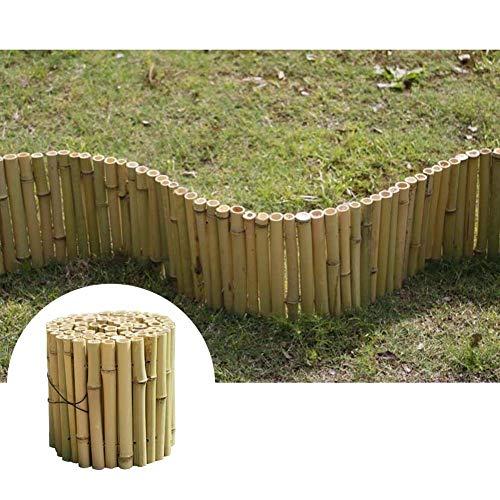 GZHENH Clôture en Bois De Jardin Protection Environnementale Clôture De Pelouse Garde-Corps pour Enfants Patio Bord De Jardin Rouleau De Bûches en Bois Fleuri, 3 Tailles