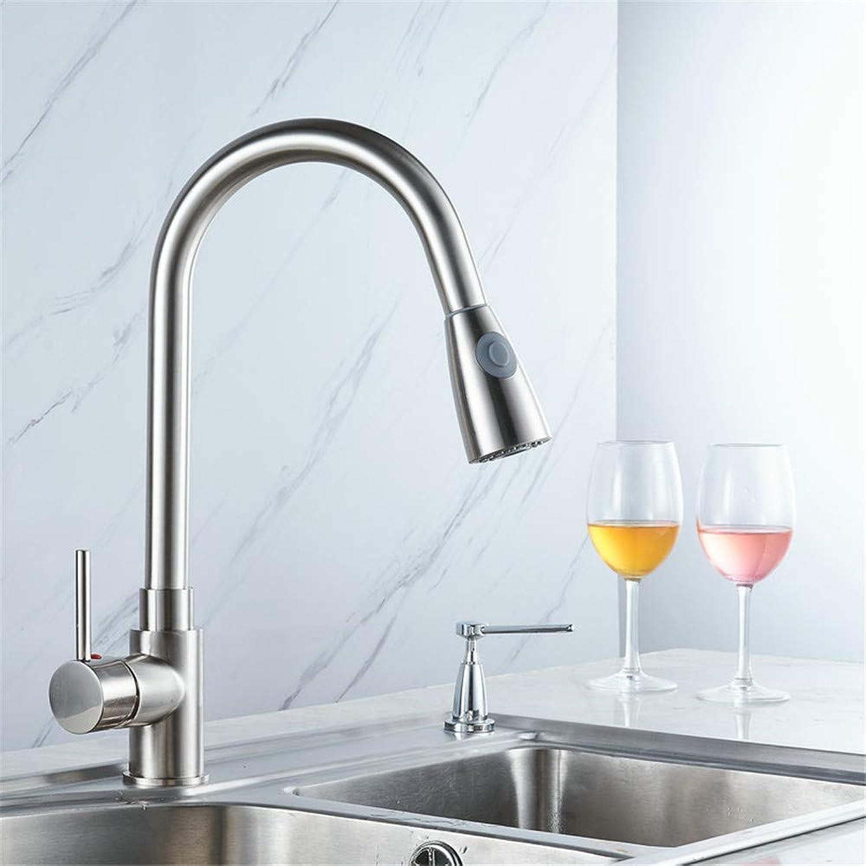 Willsego Wasserhahn Warme und kalte Küche Pull Wasserhahn Waschbecken Frühling DREI-Wege Groe Gebogene Wasserhahn Waschbecken Wasserhahn (Farbe   -, Gre   -)