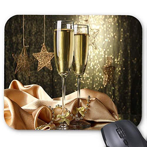 Weihnachts Champagner Wein Maus Pad