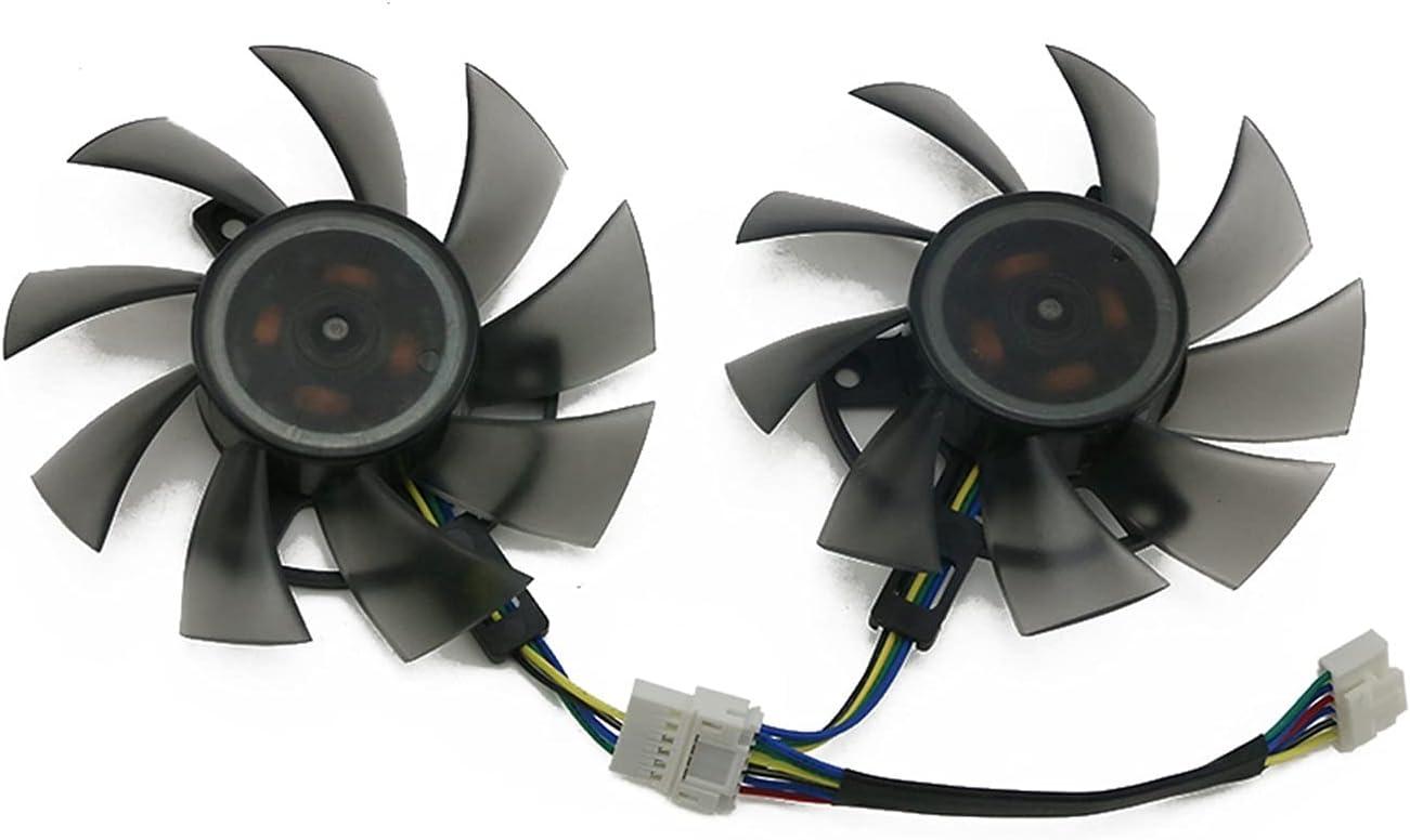 75mm FD8015U12D 6PIN RTX 2060 GTX1660 TI Fan de refrigeración para ASUS GTX 1660 1660TI TUF Gaming OC RTX2060 Tarjeta de gráficos Fan del Enfriador