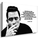 Julia-Art - Bilder Johnny Cash Leinwandbild Porträt Zitat