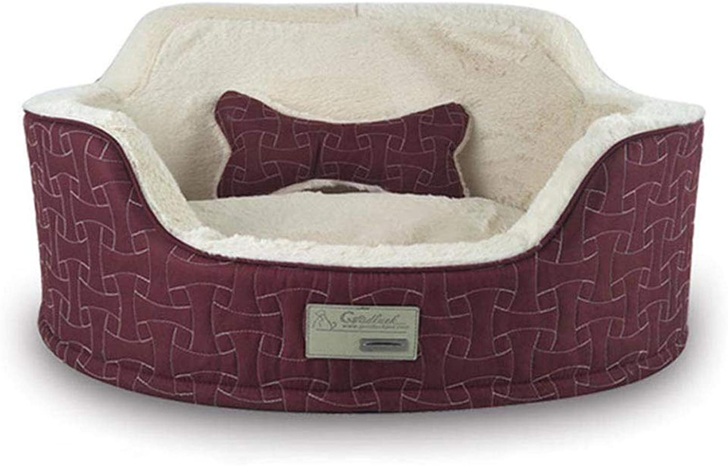 Cat Bed Kennel Soft Dog Mats Puppy Dog Bed Pet House Cozy Nest Kitten Pad Thick Warm Pet Cushion Autumn&Winter 65  50  23Cm