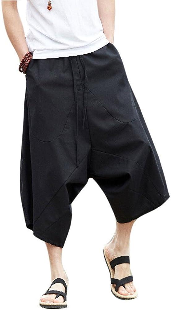 ZooBooPalazzoParachuteCotton HaremPants - HippieYogaBalloonBloomerCasual Loose Trousers
