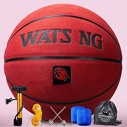 Cheap SSLLPPAA Cowhide Soft Leather Basketball Thickened Cowhide No. 7 Indoor and Outdoor General Ba...