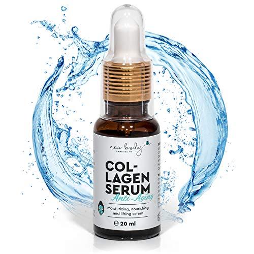 new body® Collagen Serum für Gesicht und Körper - 20 ml hochdosiertes Kollagen Öl - Schnell einziehende natürliche Anti-Aging Gesichtspflege