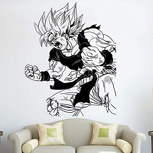 Dragon Ball Anime Goku Schlacht Wandtattoo Home Schlafzimmer Teen Zimmer Anime Fan Dekoration Vinyl Wandaufkleber 84X106Cm