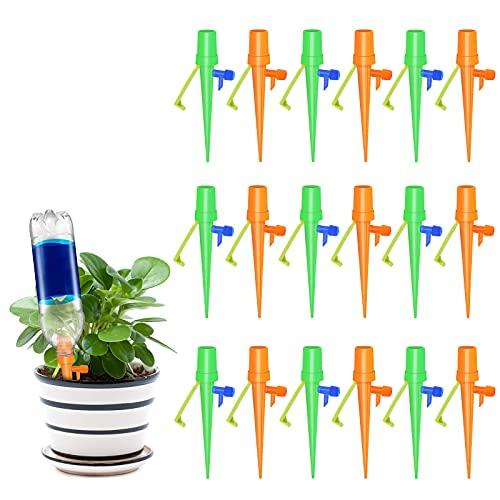 Fostoy Riego por Goteo Automático Kit, Ajustable Piezas Riego por Ggoteo Spike Sistema de Irrigación para Jardín Bonsáis y Flores, Ideal Dispositivo de Irrigación Automático en Vacaciones (18pcs)