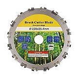 YKLP 9 pulgadas cortadora de césped hoja de sierra circular,Cortador de cepillo de dientes de motosierra máquina de corte para arbustos pesados,Malezas densas