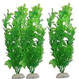 3pcs / Set Plantas De Plástico del Tanque De Pescados del Ornamento del Acuario Artificial Hierba Decorativo Simulación Hidropónicos Plantas