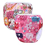 storeofbaby Baby Reusable Swimming Diaper Waterproof Washable Cloth Cover Pool Pants Pink