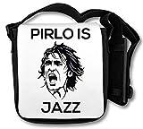 Pirlo is Jazz Stencil Schultertasche