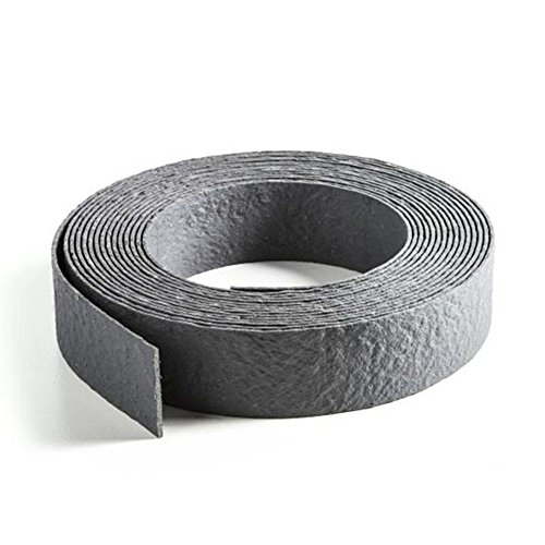 Ecolat Rasenkante aufgerollt, 25m x 14cm x 0,7cm, in grau, Beeteinfassung aus 100 % recyceltem Kunststoff