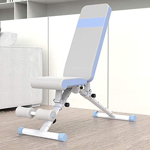 YUN HAI Faltbare Schwere Hanteln Hantelbank Große Verstellbarer Rückenlehne/Sitz, Compact Sit Up Workout Stärke Bank, for Steigung/Gefälle Drücken Sie Oben, 220 Lb