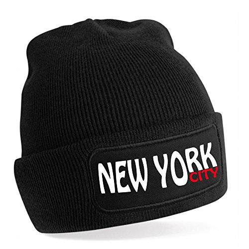 Stylx design Bonnet Biker New York ecris en Blanc Cadeau fête des pères